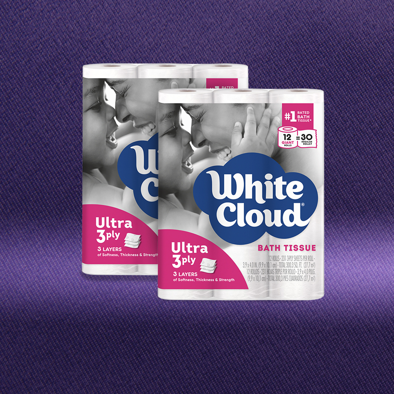 Two 12-Roll Packages of Giant Roll Ultra Bath Tissue