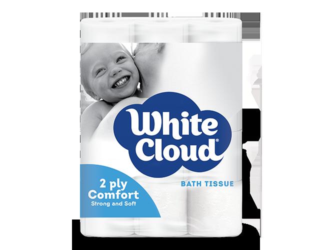 White Cloud® 2ply Comfort - 12-Roll Pkg