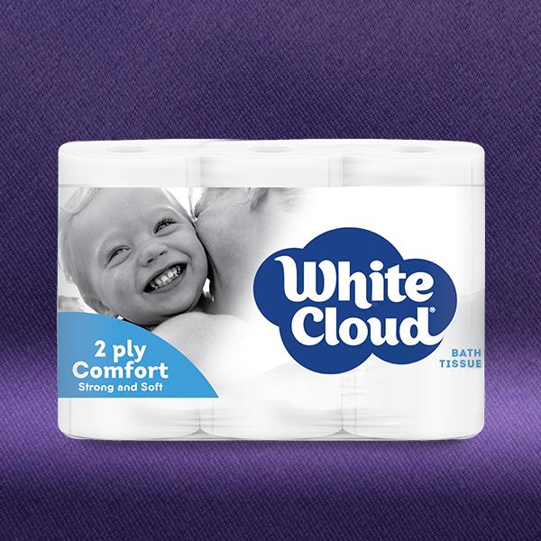 White Cloud® 2ply Comfort - 6-Roll Pkg