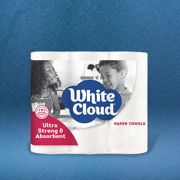 White Cloud® Paper Towels  -6 -Roll Pkg