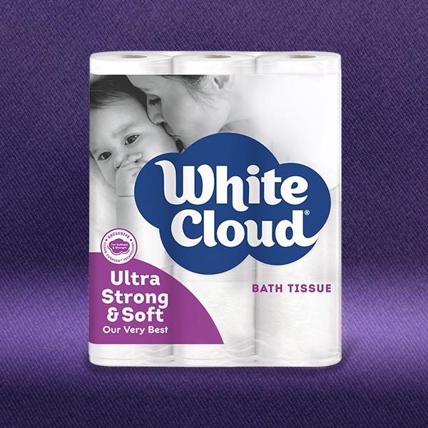White Cloud® Ultra Strong & Soft 12-Roll Pkg